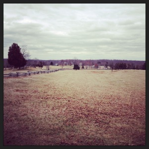 Appomattox Village from a distance